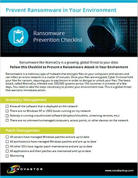 Ransomware Prevention Checklist | NovaStor